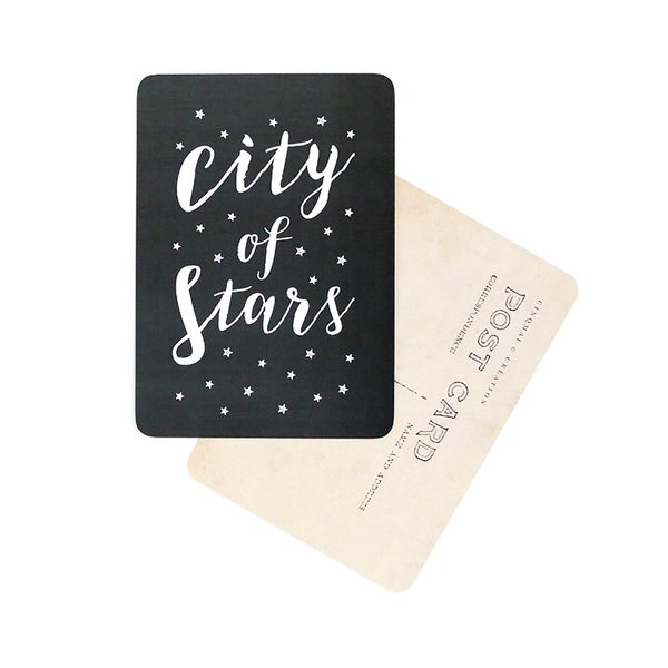 Image of Carte Postale CITY OF STARS / ARDOISE