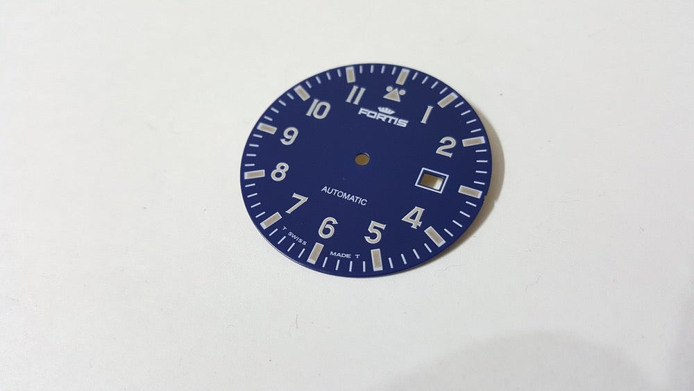 Image of FORTIS FLIEGER GENTS WATCH DIAL.NEW(BLUE,WITH DATE)