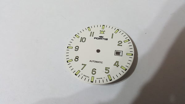 Image of FORTIS FLIEGER GENTS WATCH DIAL.NEW(WHITE,WITH DATE)