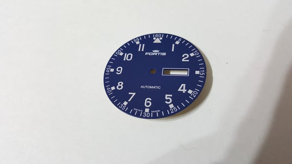 Image of FORTIS FLIEGER GENTS WATCH DIAL.NEW(BLUE,WITH DAY & DATE)(D-5)