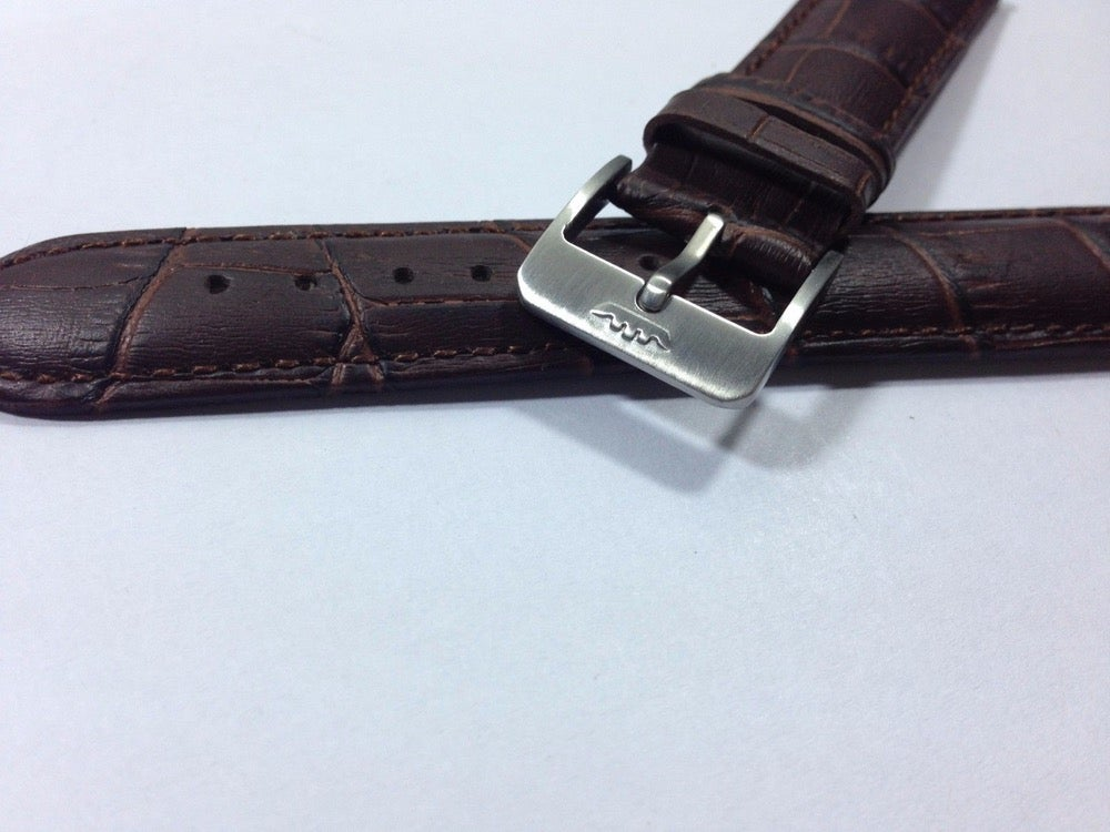 Image of FORTIS GENTS WATCH STRAP,GENTS,S/S BUCKLE,BROWN PADDED LEATHER,20MM,( FL-2 )