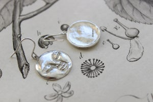 Image of full moon earrings