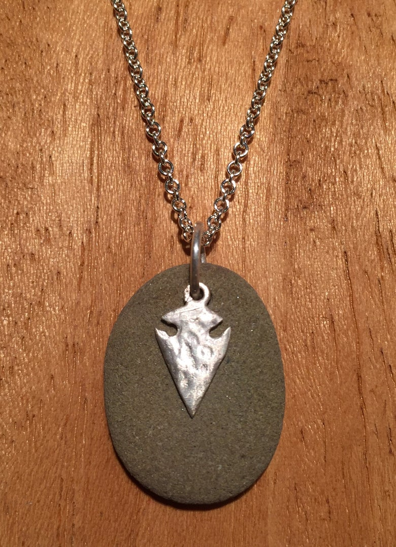 Image of Rock with Arrowhead Pendant