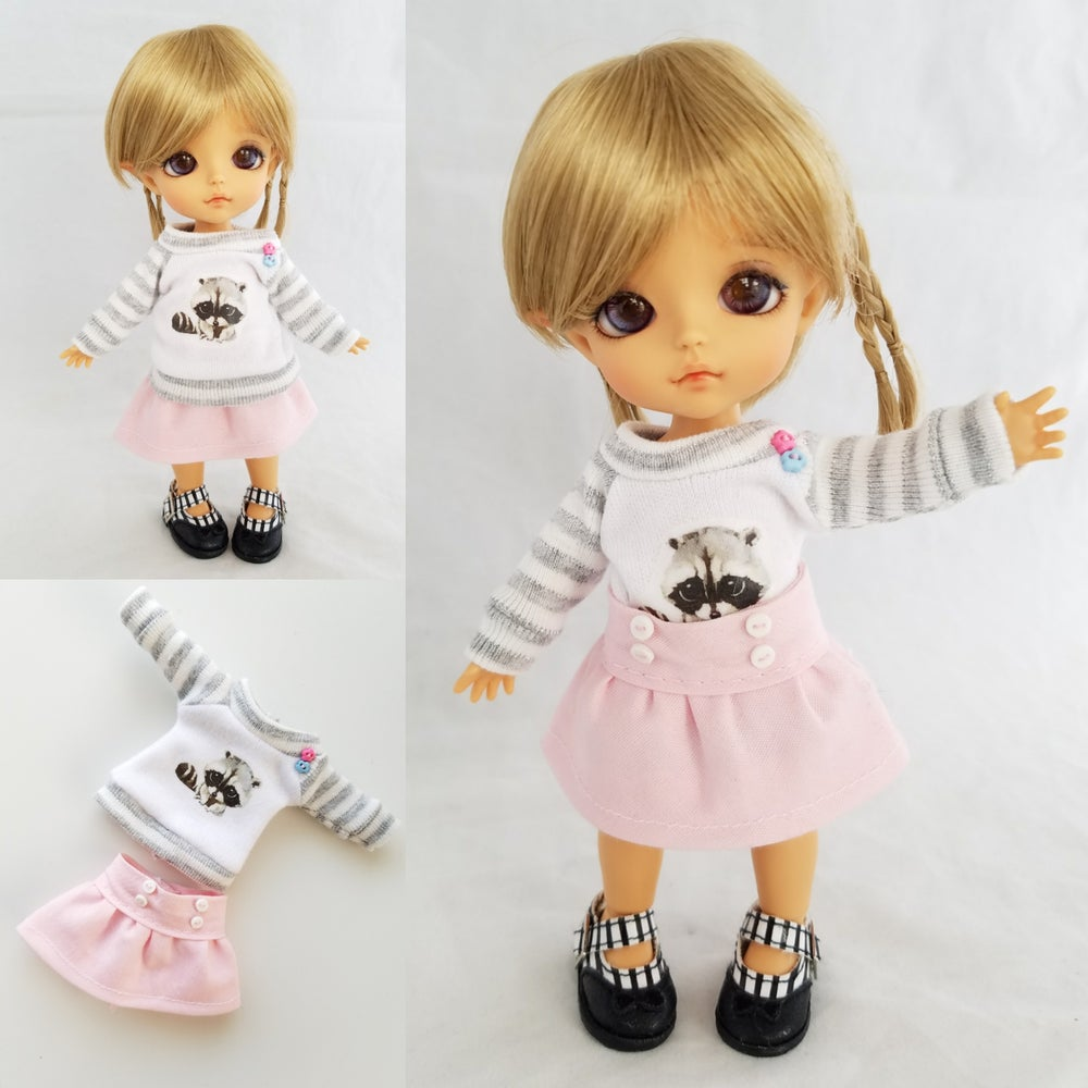 Image of Baby Raccoon Sweater and Skirt Set