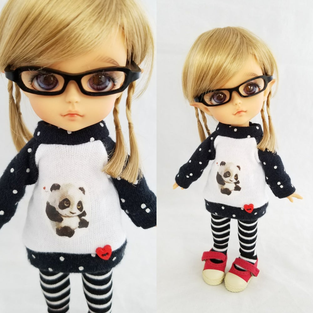 Image of Panda Love Sweater and Tights Set