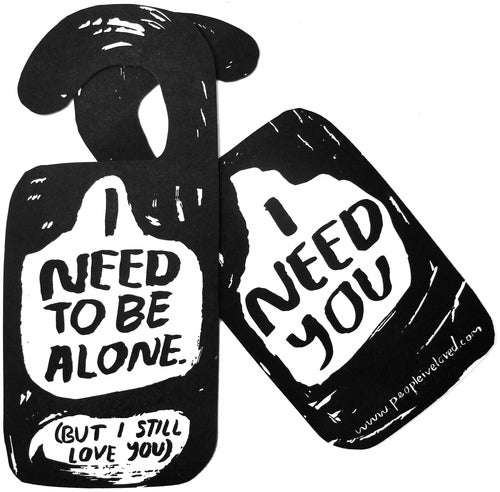 Image of I Need To Be Alone Door Hanger