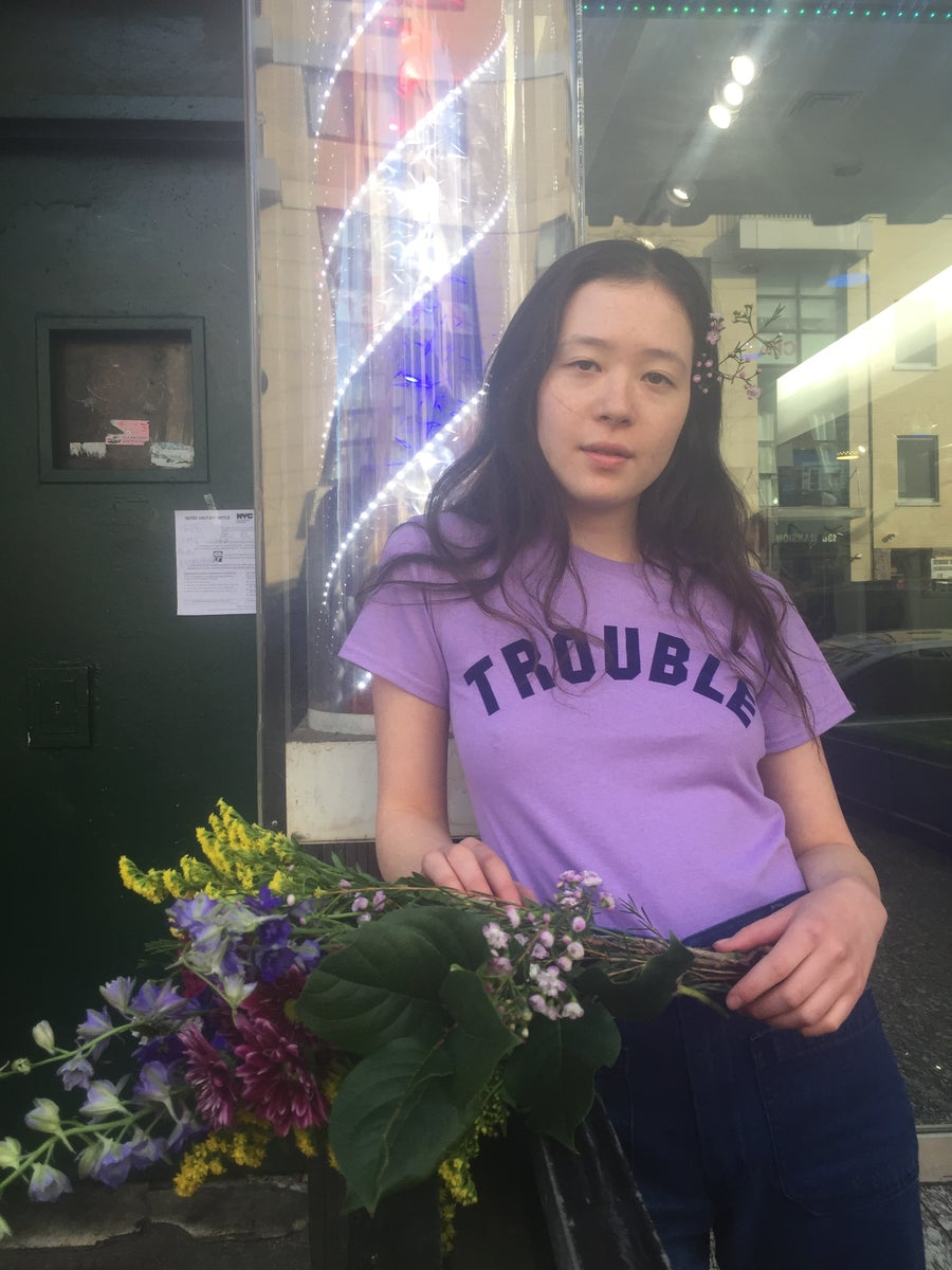 Image of LILAC TROUBLE TEE