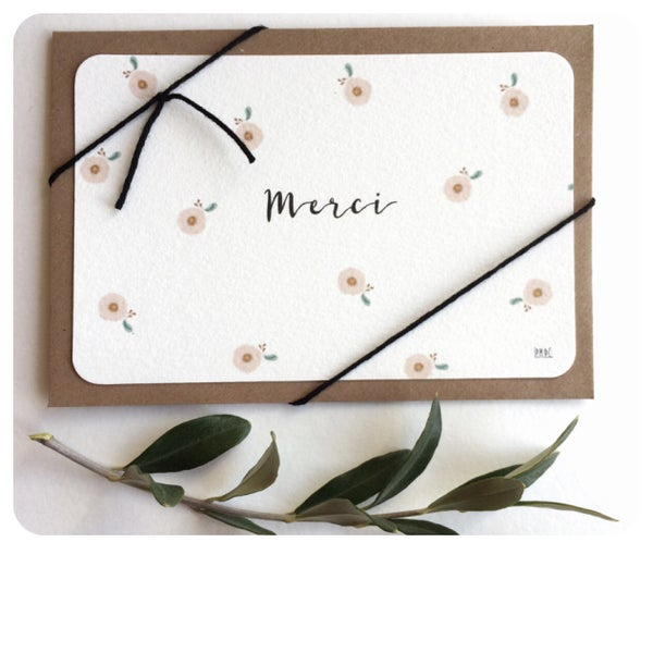"Image of Carte Postale ""Merci"""