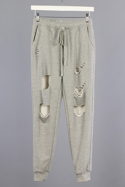 Image of Distressed Joggers