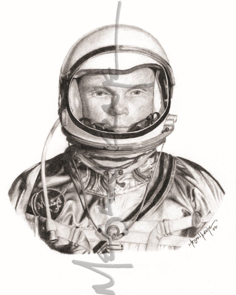 Image of John Glenn, reprint