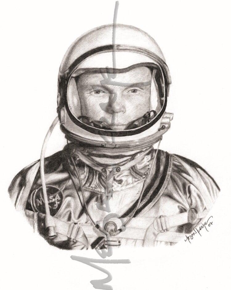 Image of John Glenn, reprint