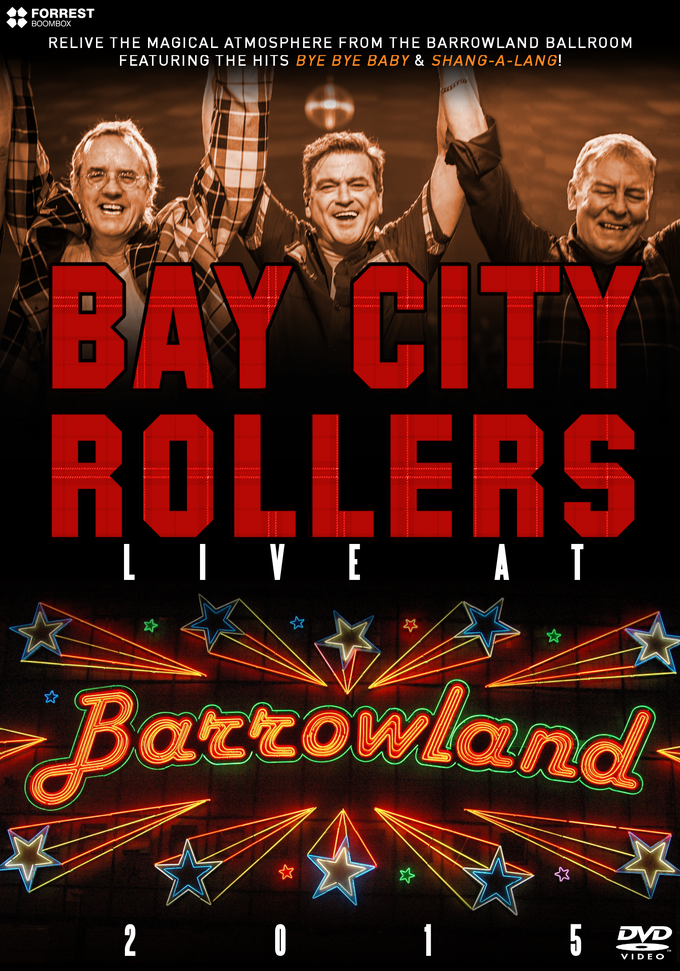 Image of DVD - BAY CITY ROLLERS LIVE AT THE BARROWLANDS 2015