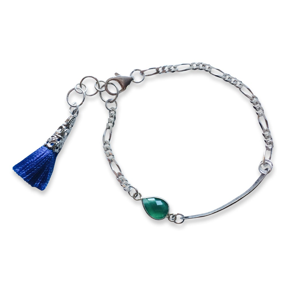 Image of LIVE-LOVE-LAUGH & TASSEL BRACELET