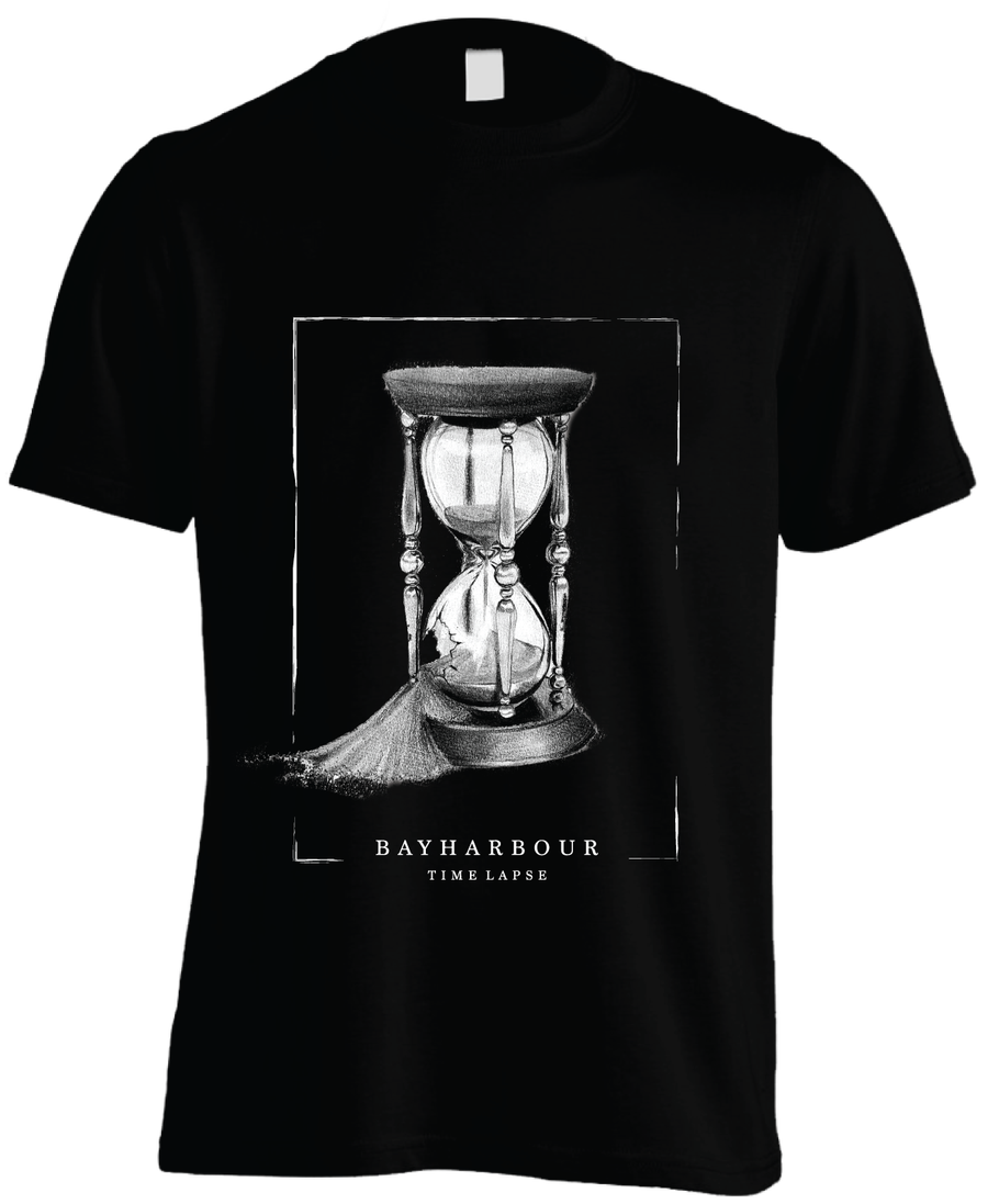 Image of 'TIME LAPSE' BLACK TEE