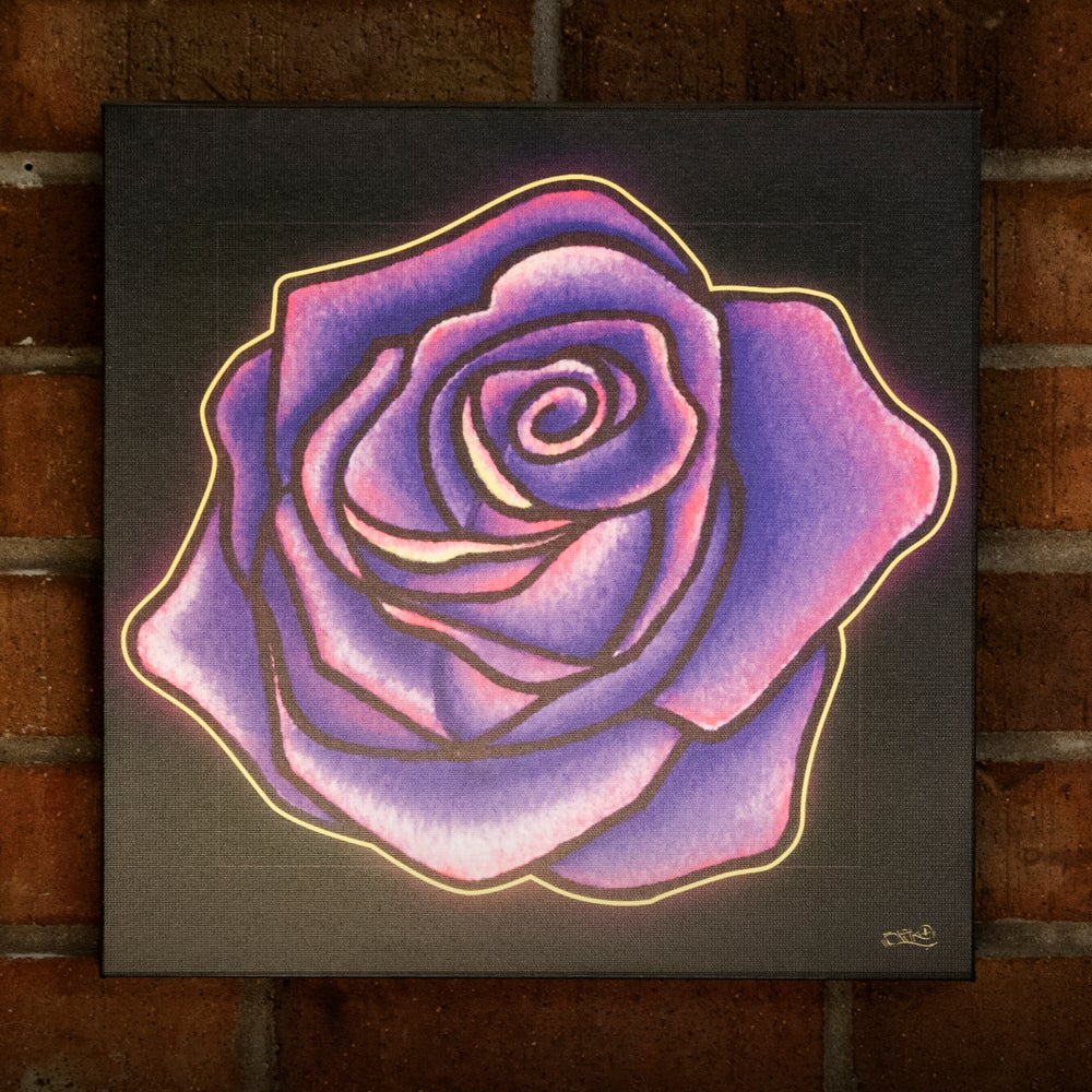 Image of PURPLE ROSE - CANVAS PRINT (12X12)