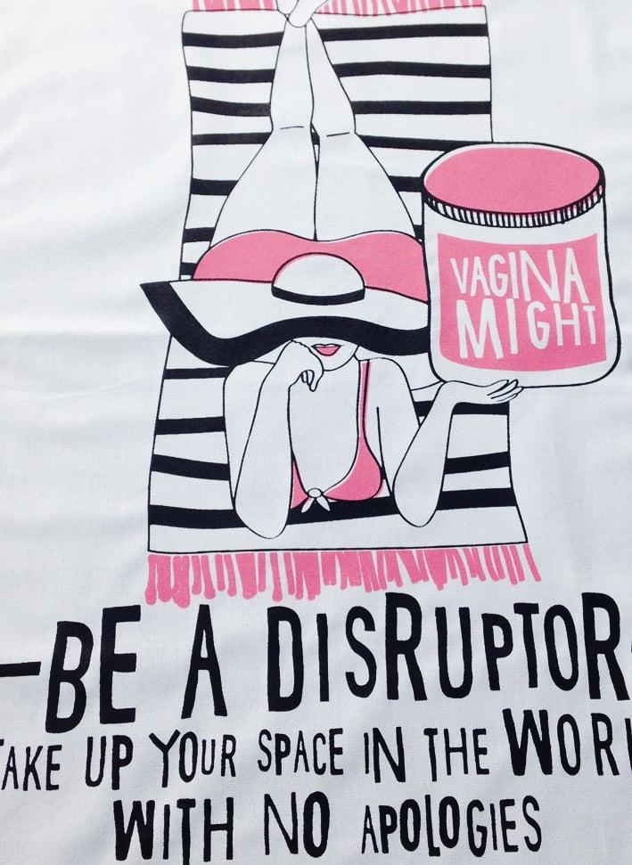 Image of DISRUPTOR VAGINA MIGHT - Tea Towel