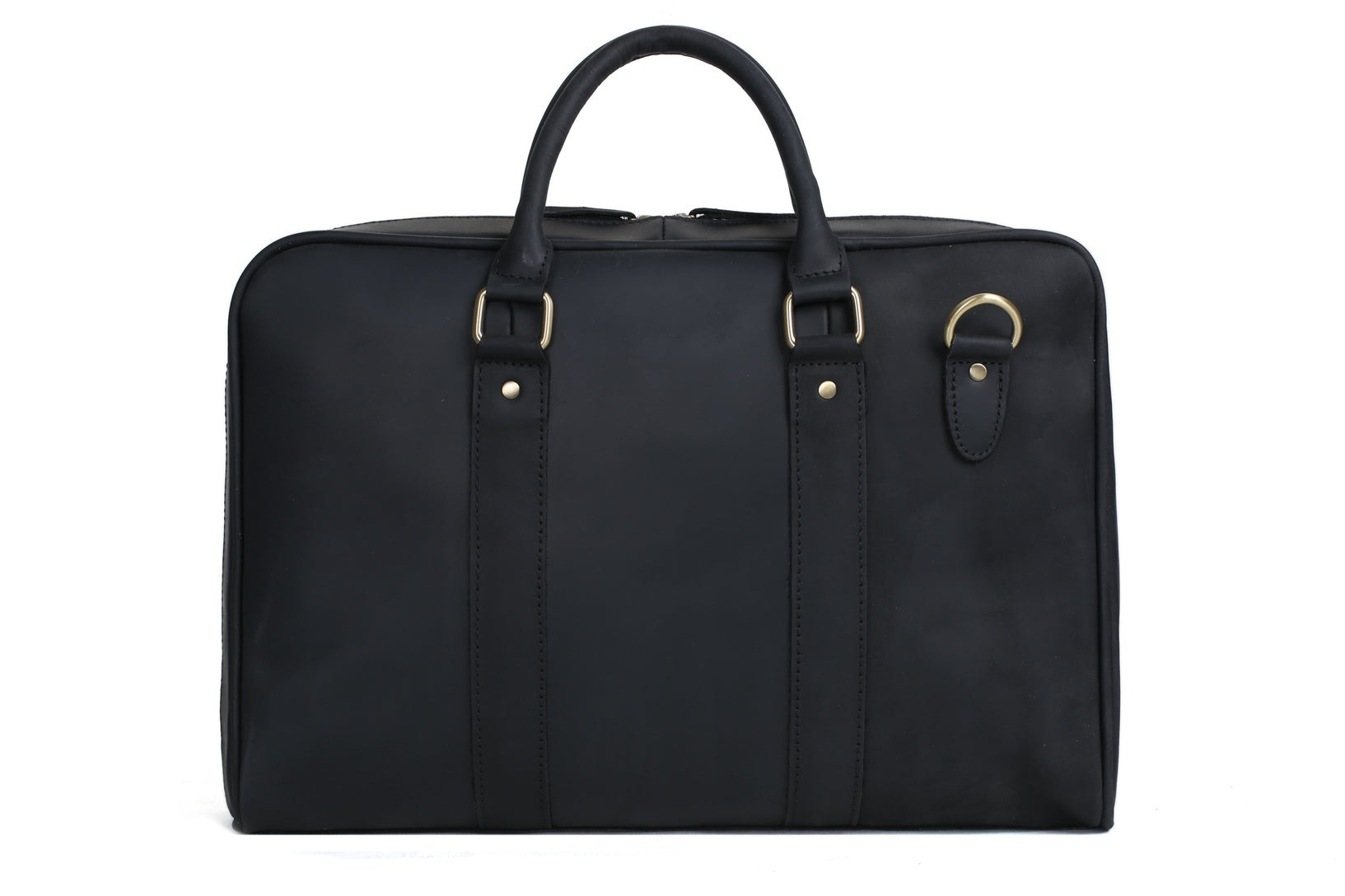 MoshiLeatherBag - Handmade Leather Bag Manufacturer — Handmade Black  Genuine Leather Briefcase 4a3babc8512e1