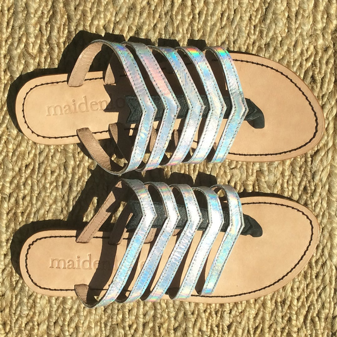 Image of DORIS SANDAL - HOLOGRAPHIC
