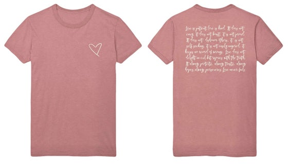 Image of LOVE. Tee - Mauve