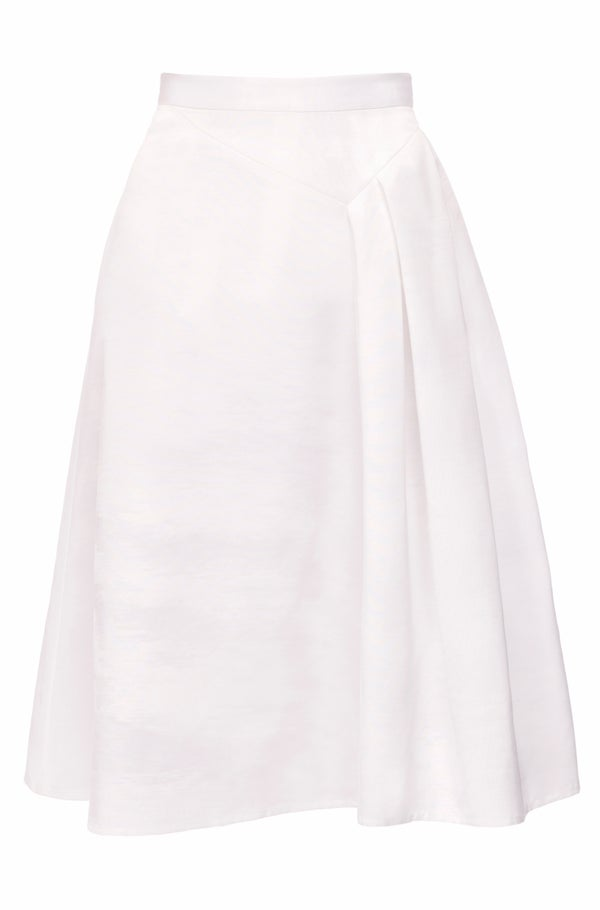 Heather Skirt (White & Blue) - Melissa Bui
