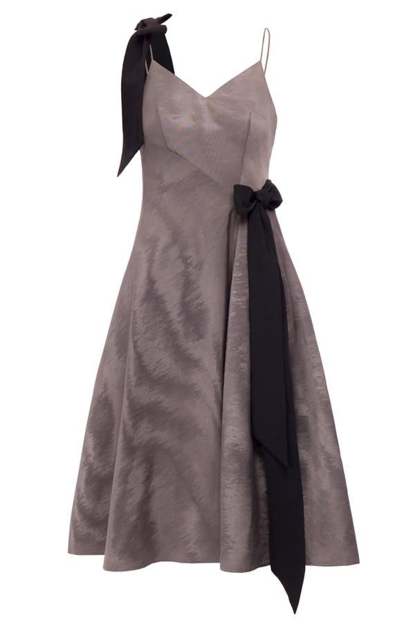 Jasmin Dress (Grey, White & Blue) - Melissa Bui
