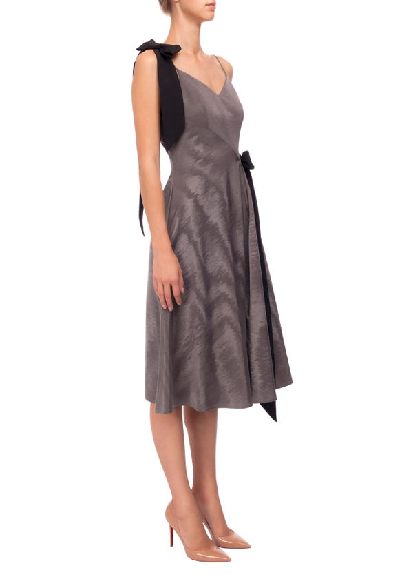 Jasmin Dress (Grey, White & Blue) - Melissa Bui