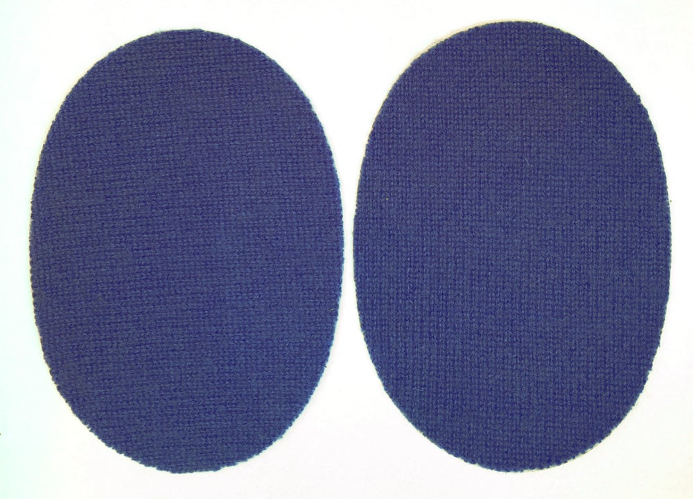 Image of Iron-On Cashmere Elbow Patches  - Navy Ovals