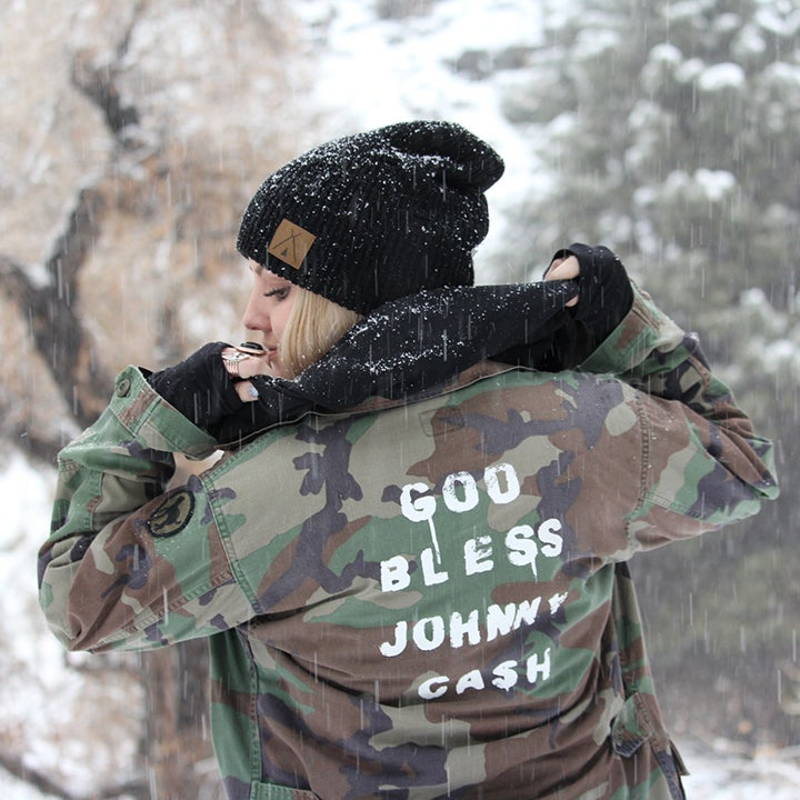 Image of Johnny Upcycled Camo Utility Jacket