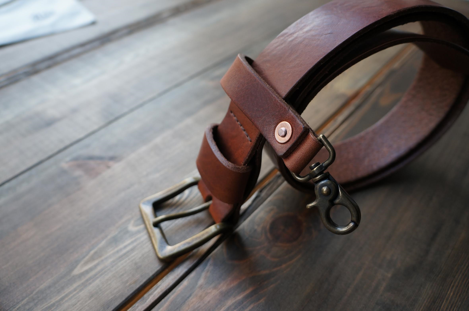 Image of ENGINEER Leather Belt - Brown