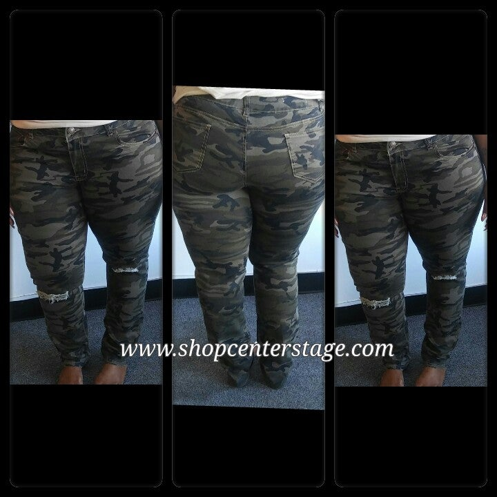 Image of Camo stretch jeans