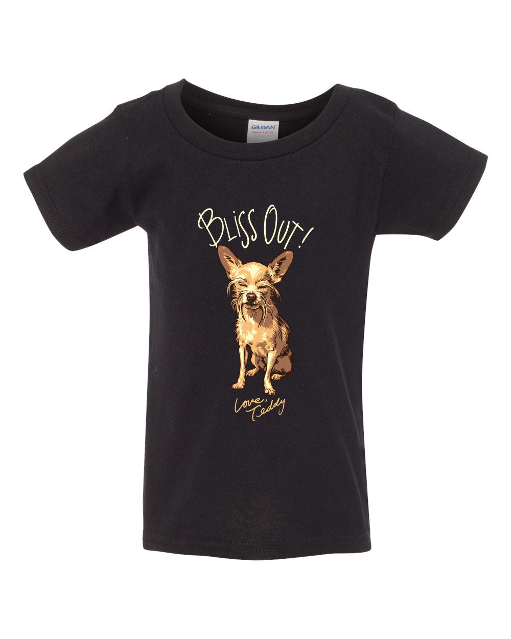 """Image of *Kids* Teddy """"Bliss Out"""" Tee (Black) 50% off"""
