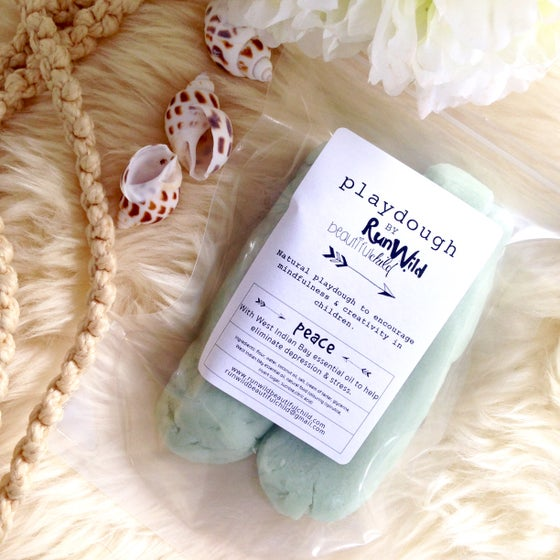 Image of PEACE: handmade playdough with West Indian bay essential oil