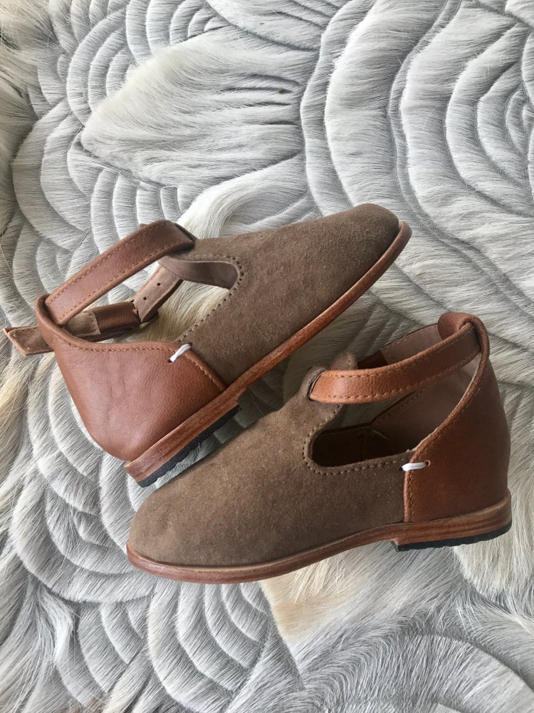 Image of Coco leather and suede boots - Tan