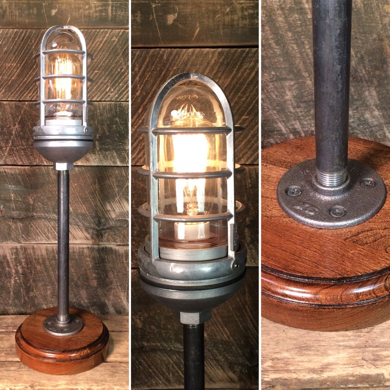Image of Tall Trouble Cage Lamp with Touch Dimmer