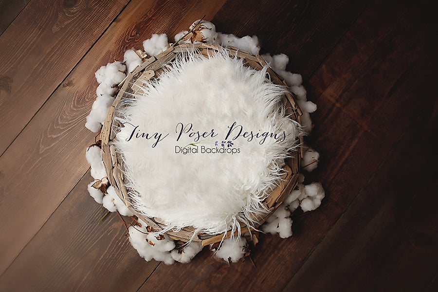 Image of Driftwood and Cotton Bowl - Newborn Digital Backdrop