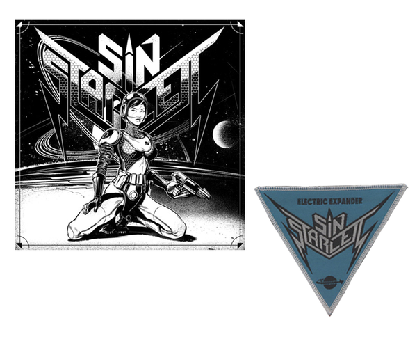 "Image of SIN STARLETT - Digital Overload / Electric Expander - 7"" Vinyl 333 copies or with Patch 111 copies"