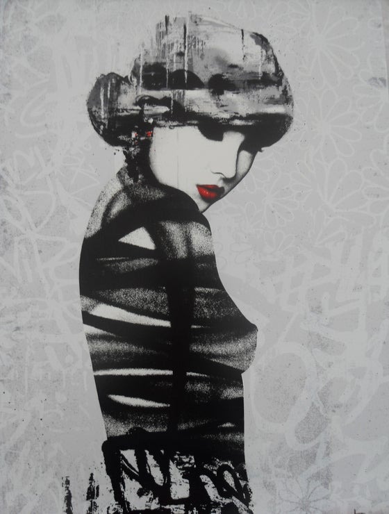 Image of HUSH - ROUGE I - 12 COLOUR SCREENPRINT - LTD ED 250 - 71CM X 51CM