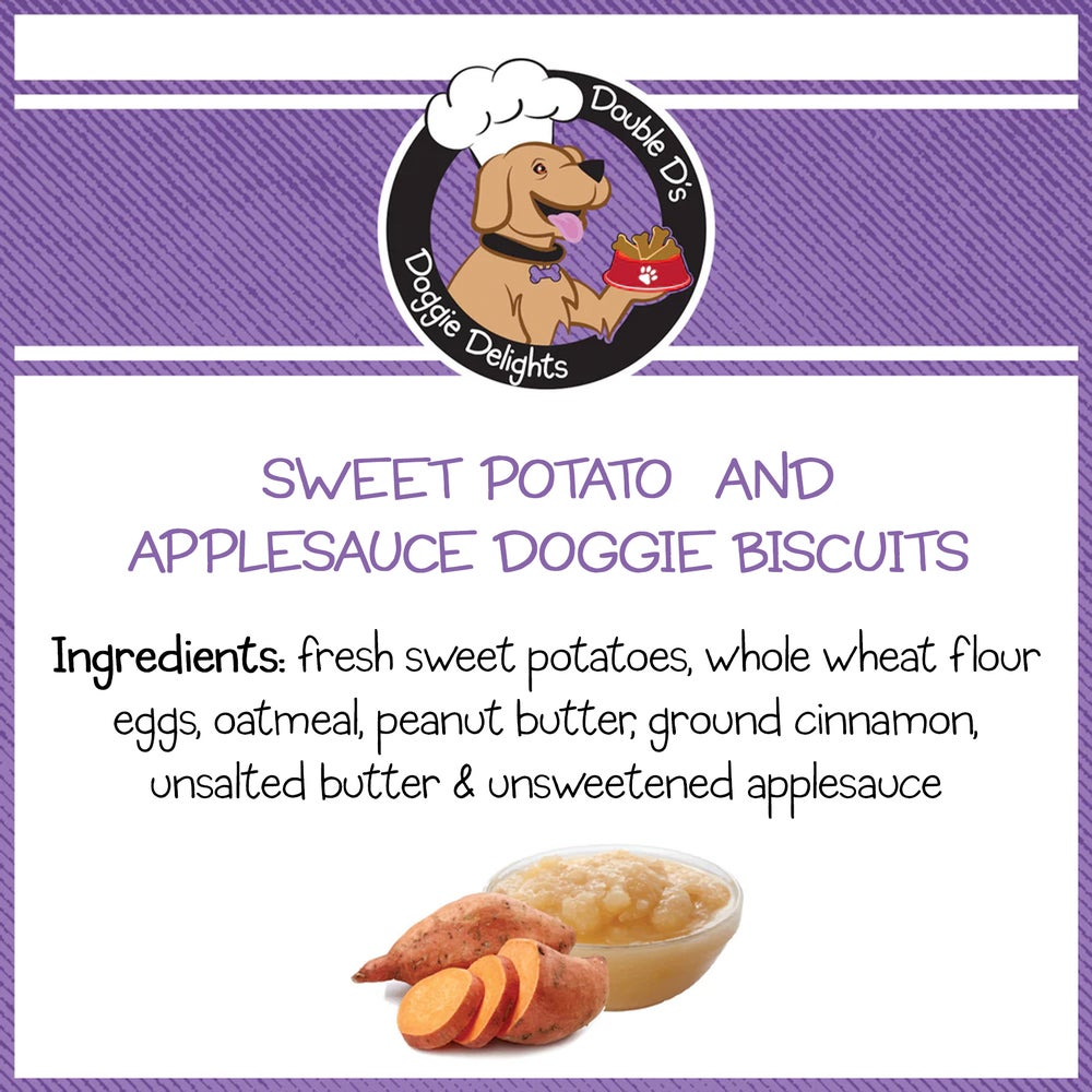 Image of Sweet Potato and Applesauce Doggie Biscuits