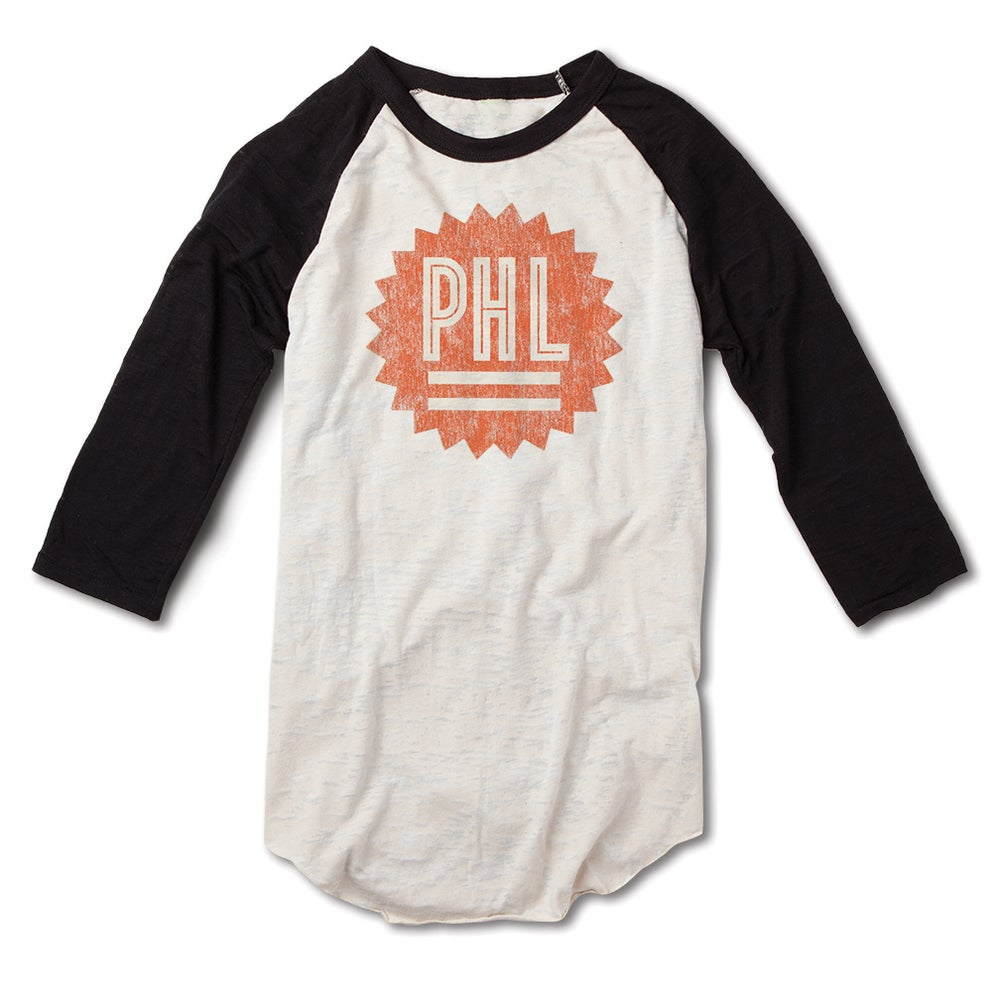 Image of Philly Sunburst baseball Tee