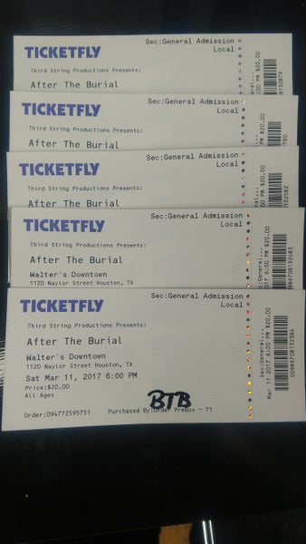 Image of BTB, Fit for a King, Emmure, & After the Burial Presented by Third String Productions