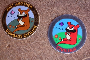 Image of Civilian Bear Stickers