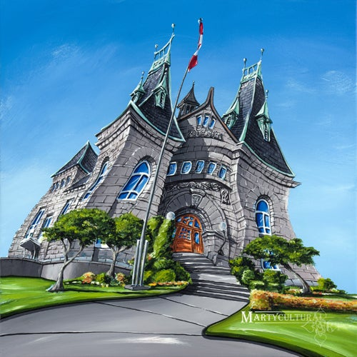 Image of Nanaimo Courthouse Original Painting