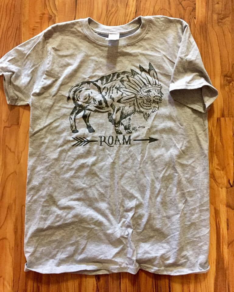 Image of Roaming Bison Heather Tee