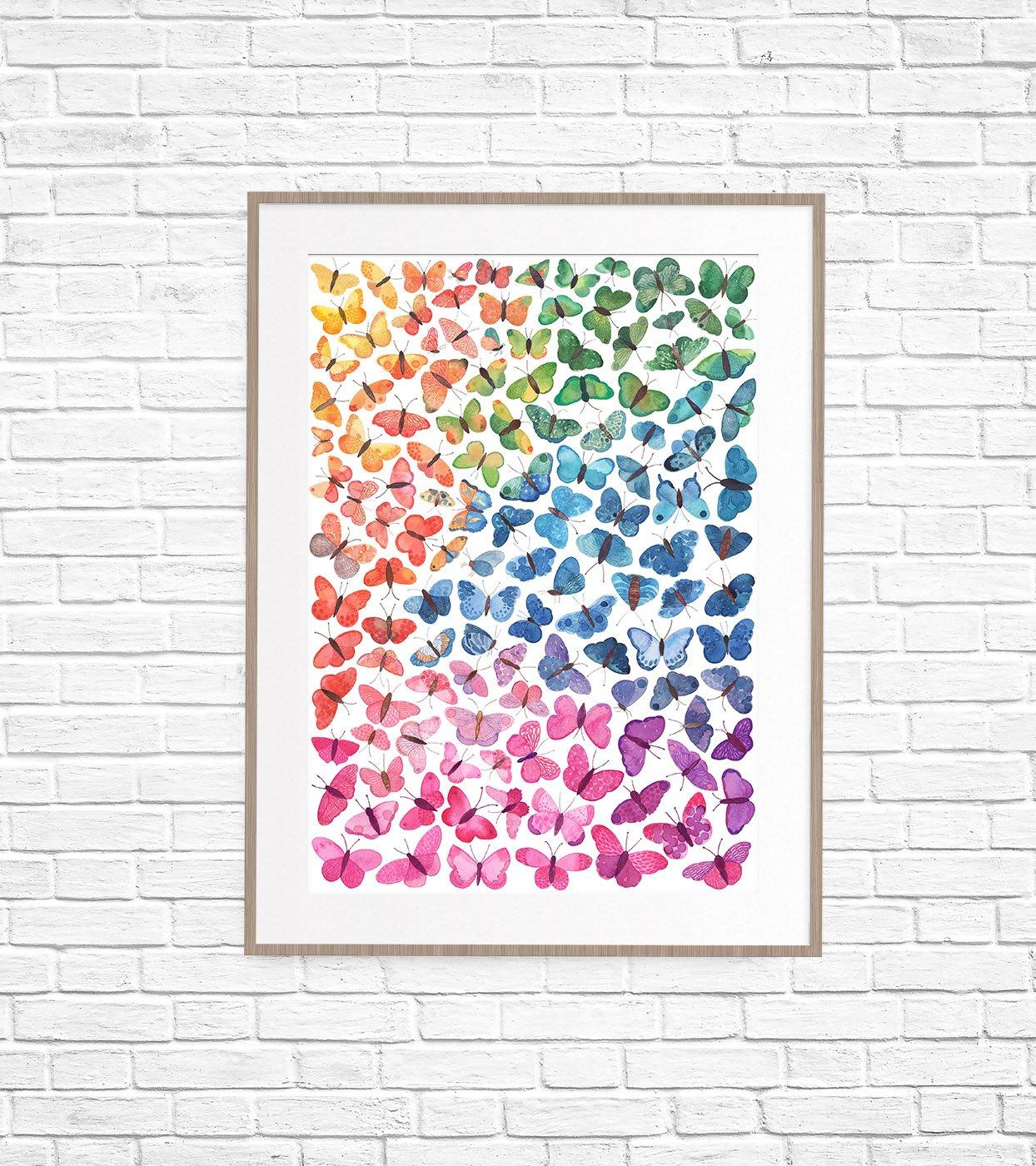 Image of Ombré Butterflies Fine Art Print
