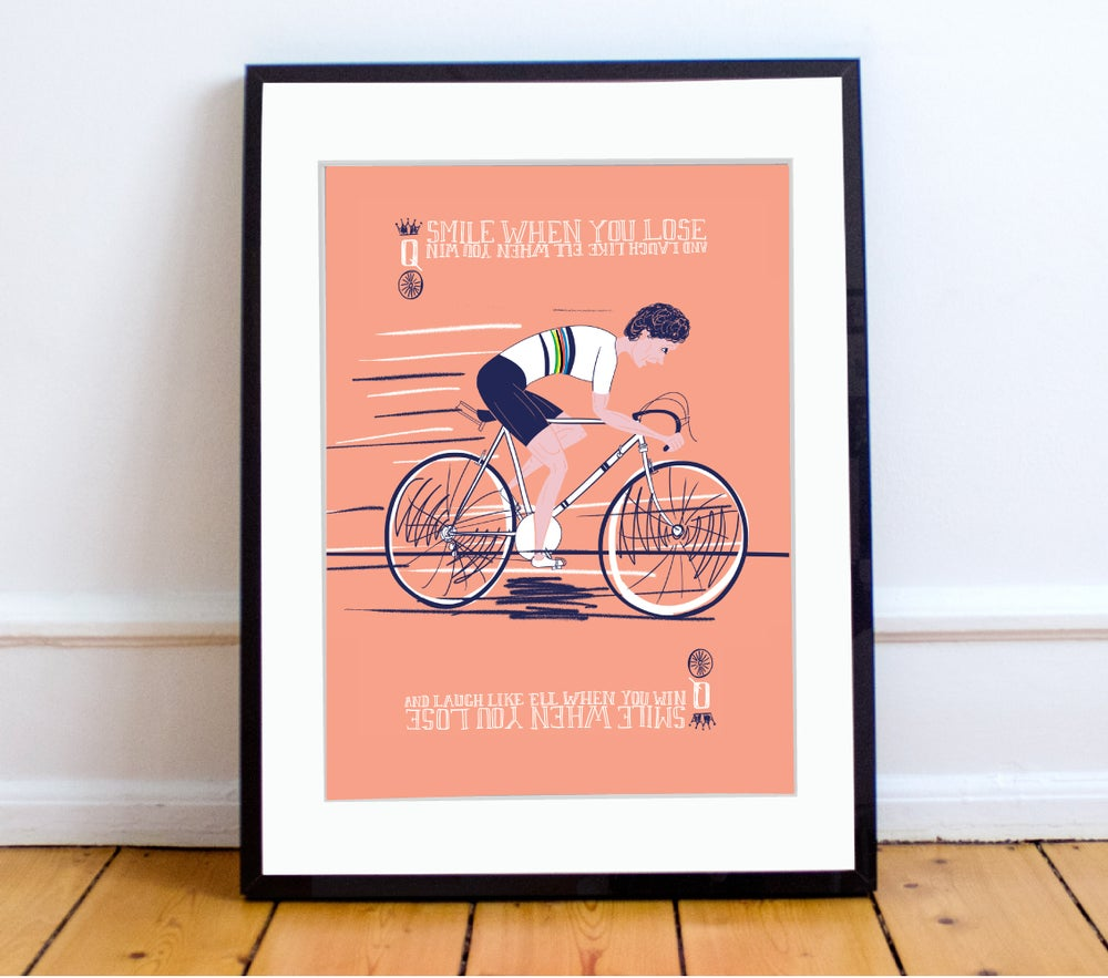Image of Beryl Burton print A4 - By Peter Swain