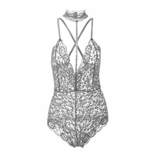 Image of Lei Lace Bodysuit Grey