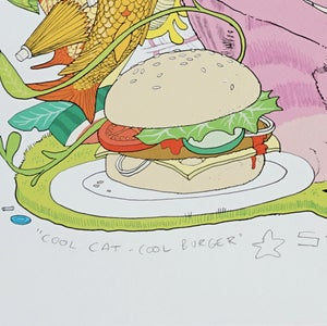 Image of COOL CAT COOL BURGER · Kunstprint