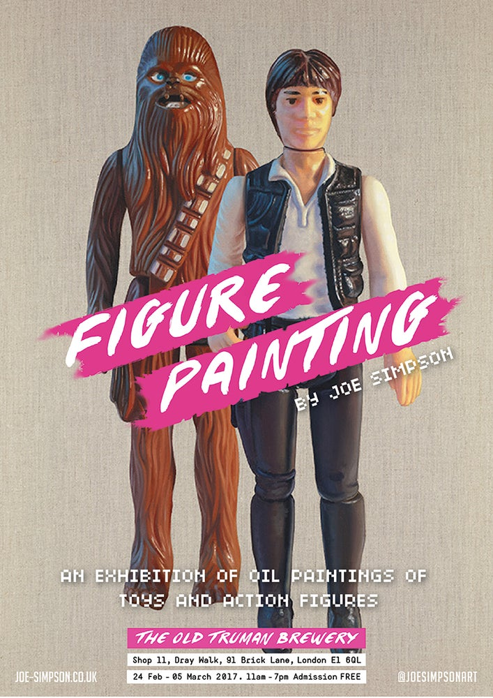 Image of FIGURE PAINTING exhibition poster // Han Solo & Chewbacca
