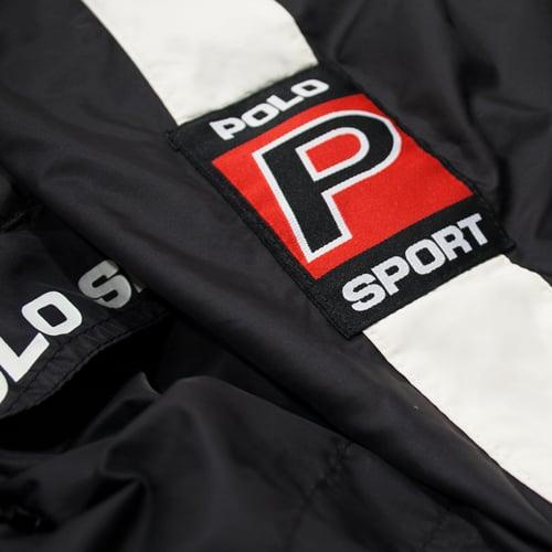 Image of Polo Sport Ralph Lauren Windbreaker Hooded Size L Black