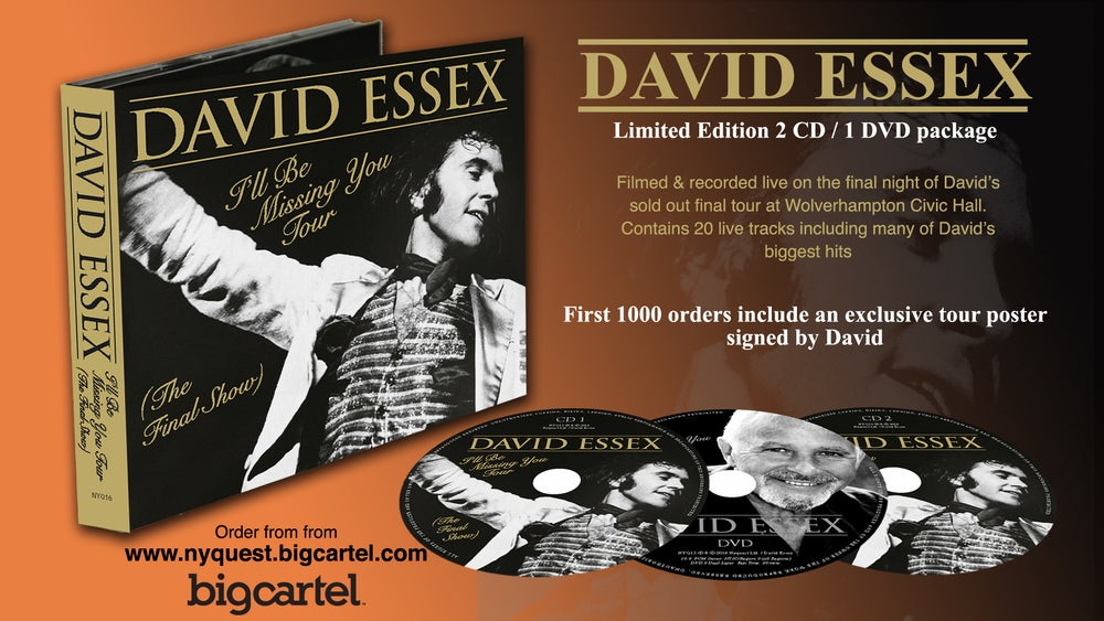 Image of David Essex. I'll Be Missing You Live CD/DVD Pre Sale Release 3rd April 2017